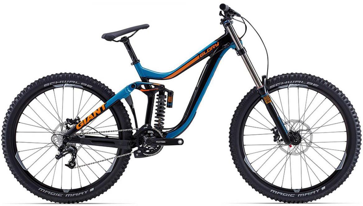 Велосипед горный Giant Glory 2 2015, двухподвесный, цвет: синий, рама 22, колесо, 27,5129572