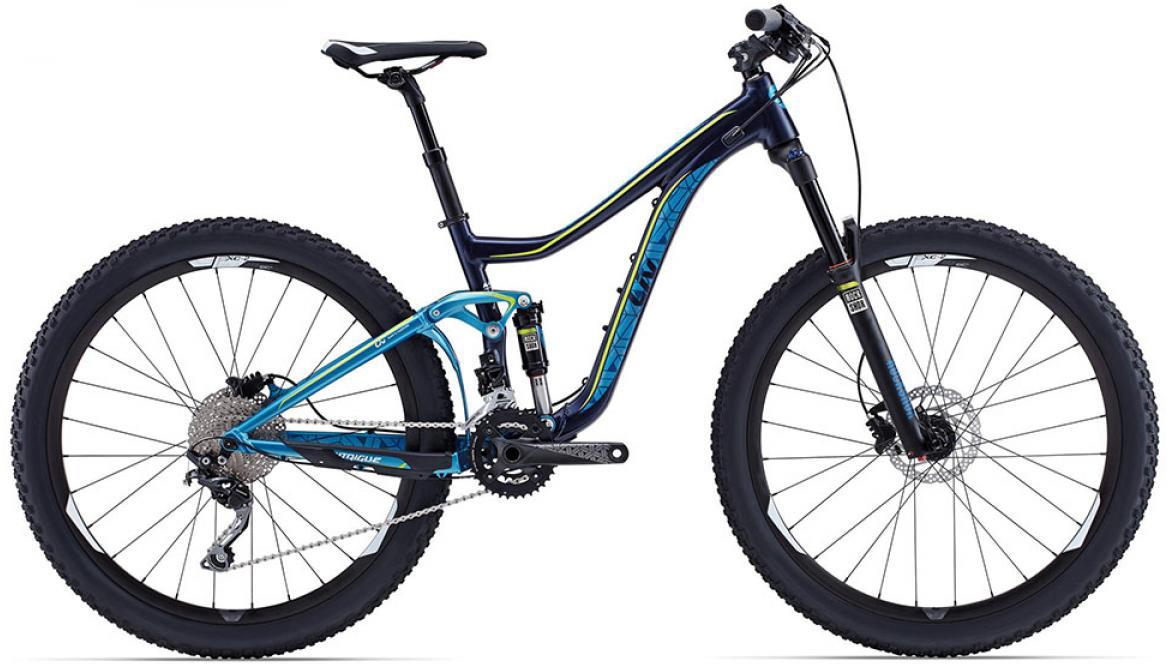 Велосипед женский Giant Intrigue 2 2015, цвет: синий, рама 16, колесо 27.5129578