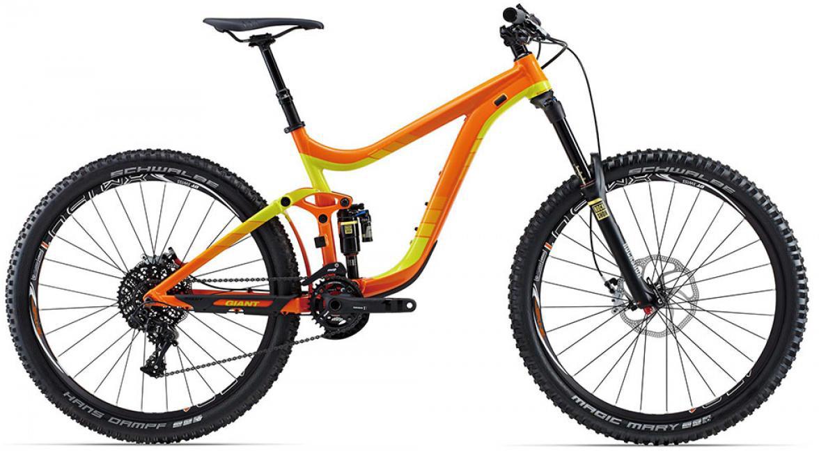 Велосипед горный Giant Reign 1 2015, двухподвесный, цвет: оранжевый, рама 18, колесо, 27,5129595