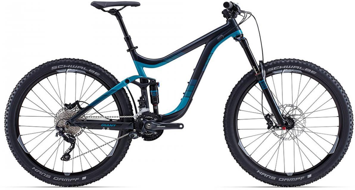 Велосипед горный Giant Reign 2 2015, двухподвесный, цвет: черный, рама 22, колесо, 27,5129600