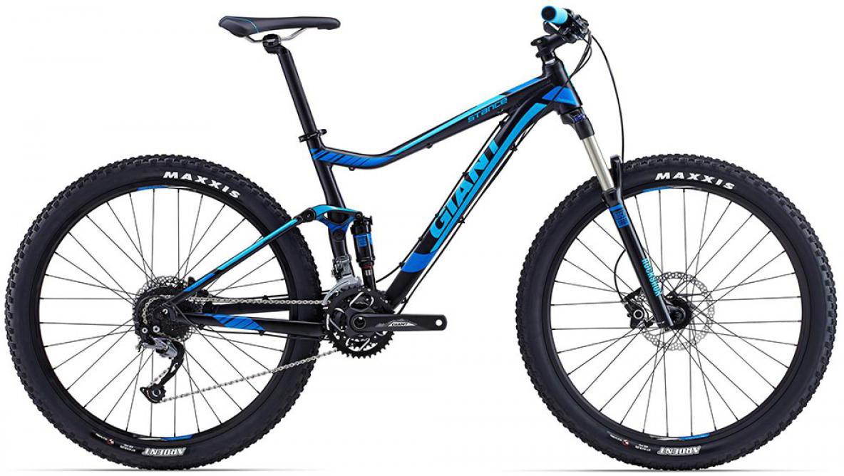 Велосипед горный Giant Stance 2 2015, двухподвесный, цвет: черный, рама 16, колесо, 27,5129610