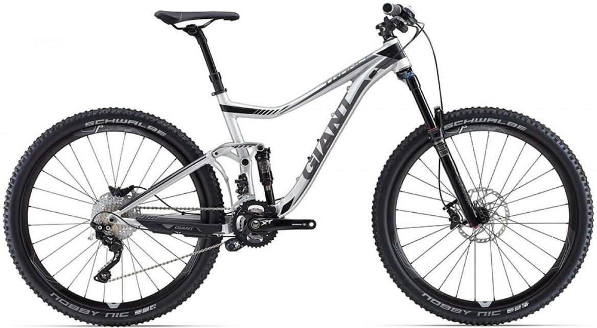 Велосипед горный Giant Trance 1 2015, двухподвесный, цвет: серый, рама 18, колесо, 27,5129613