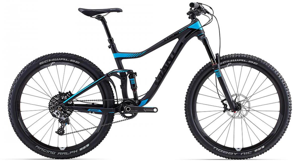 Велосипед горный Giant Trance Advanced 0 2015, двухподвесный, цвет: черный, рама 16, колесо, 27,5129630