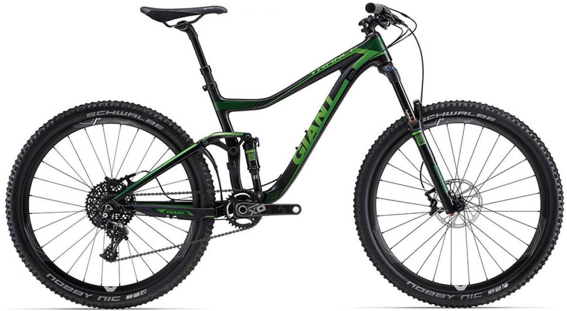 Велосипед горный Giant Trance Advanced 1 2015, двухподвесный, цвет: черный, рама 18, колесо, 27,5129632