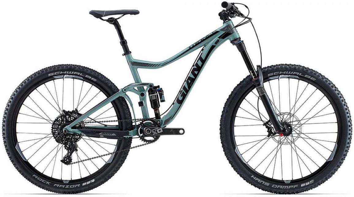 Велосипед горный Giant Trance SX 2015, двухподвесный, цвет: серый, рама 18, колесо, 27,5129640