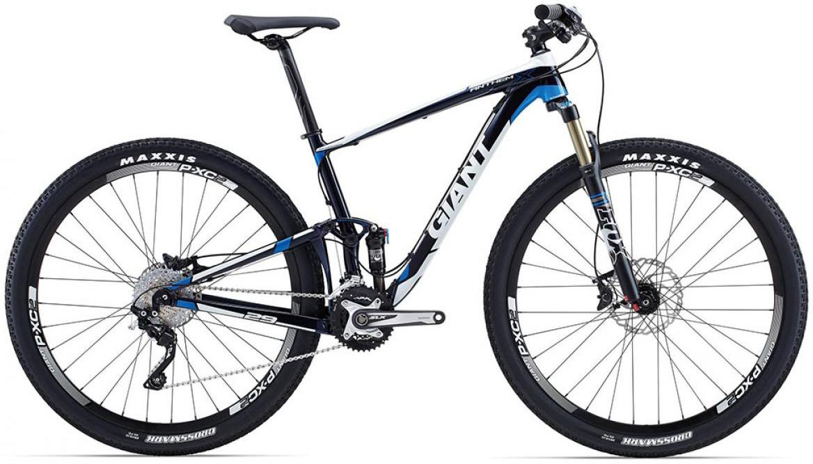 Велосипед горный Giant Anthem X 2015, двухподвесный, цвет: синий, рама 20, колесо, 29129645