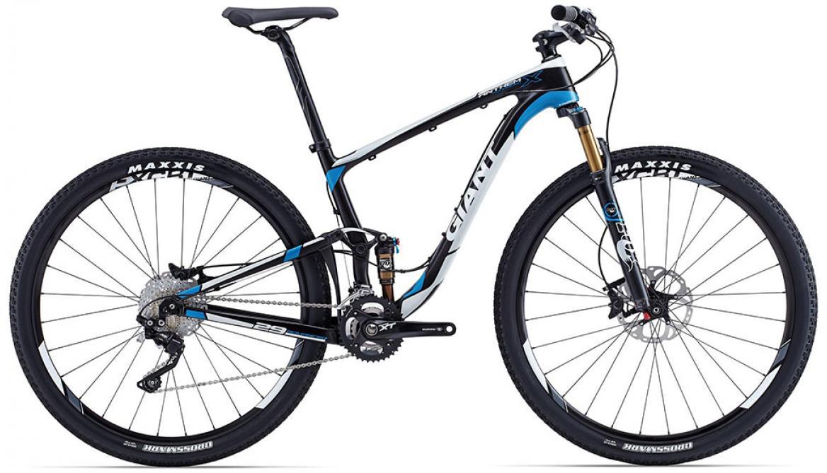 Велосипед горный Giant Anthem X Advanced 2015, двухподвесный, цвет: синий, рама 18, колесо, 29129650