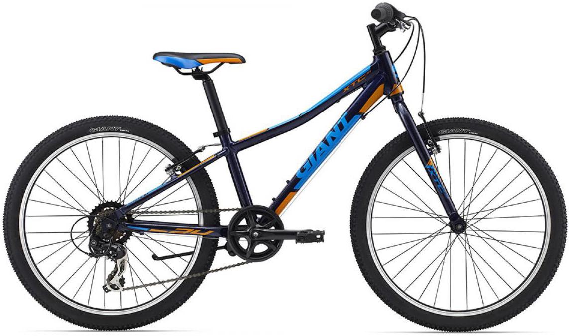 Велосипед детский Giant XtC Jr 2015, цвет: синий, колесо 24 велосипед детский giant xtc jr 2 2015 цвет черный колесо 24