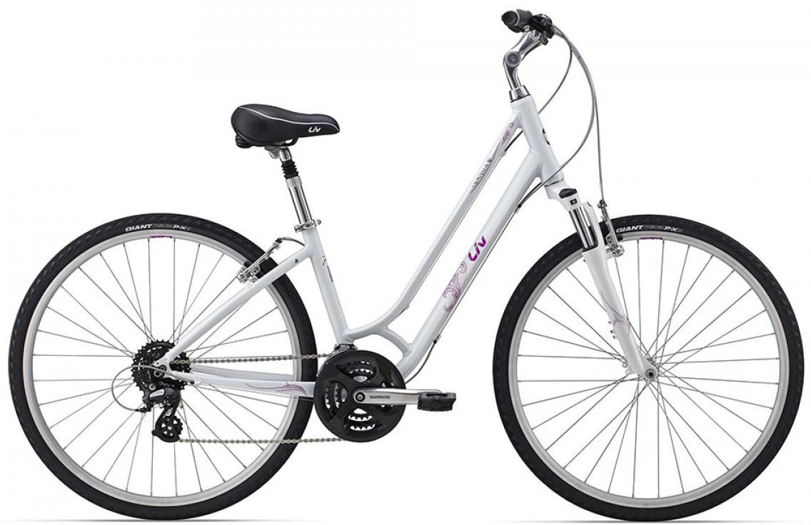 Велосипед женский Giant Cypress DX W 2015, цвет: белый, рама 16, колесо 28129687