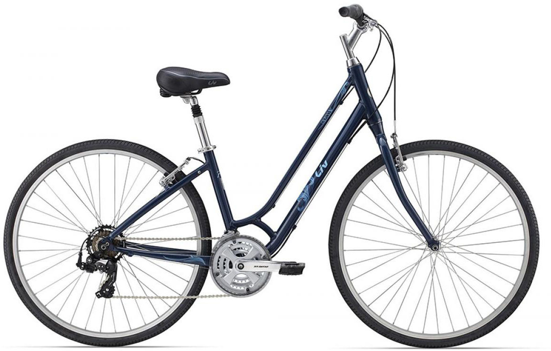 Велосипед женский Giant Cypress W 2015, цвет: синий, рама 18, колесо 28129690