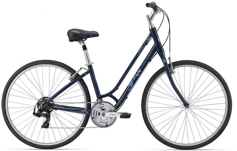 Велосипед женский Giant Cypress W 2015, цвет: синий, рама 14,5, колесо 28129692