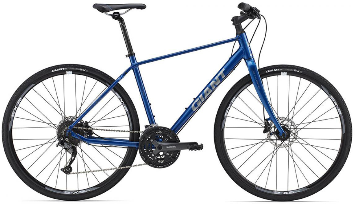 Велосипед городской Giant Escape 1 Disc 2015, цвет: синий, рама 20, колесо 28129693