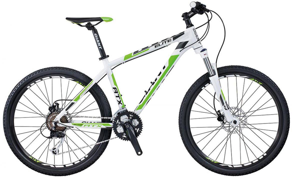 Велосипед горный Giant ATX Elite 1 2015, цвет: белый, рама 15,5, колесо, 26134876