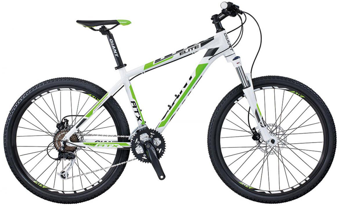 Велосипед горный Giant ATX Elite 1 2015, цвет: белый, рама 17, колесо, 26134878