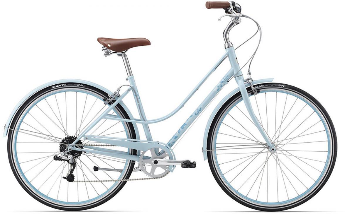 Велосипед женский Giant Via 2 W 2015, цвет: голубой, рама 18, колесо 28134927