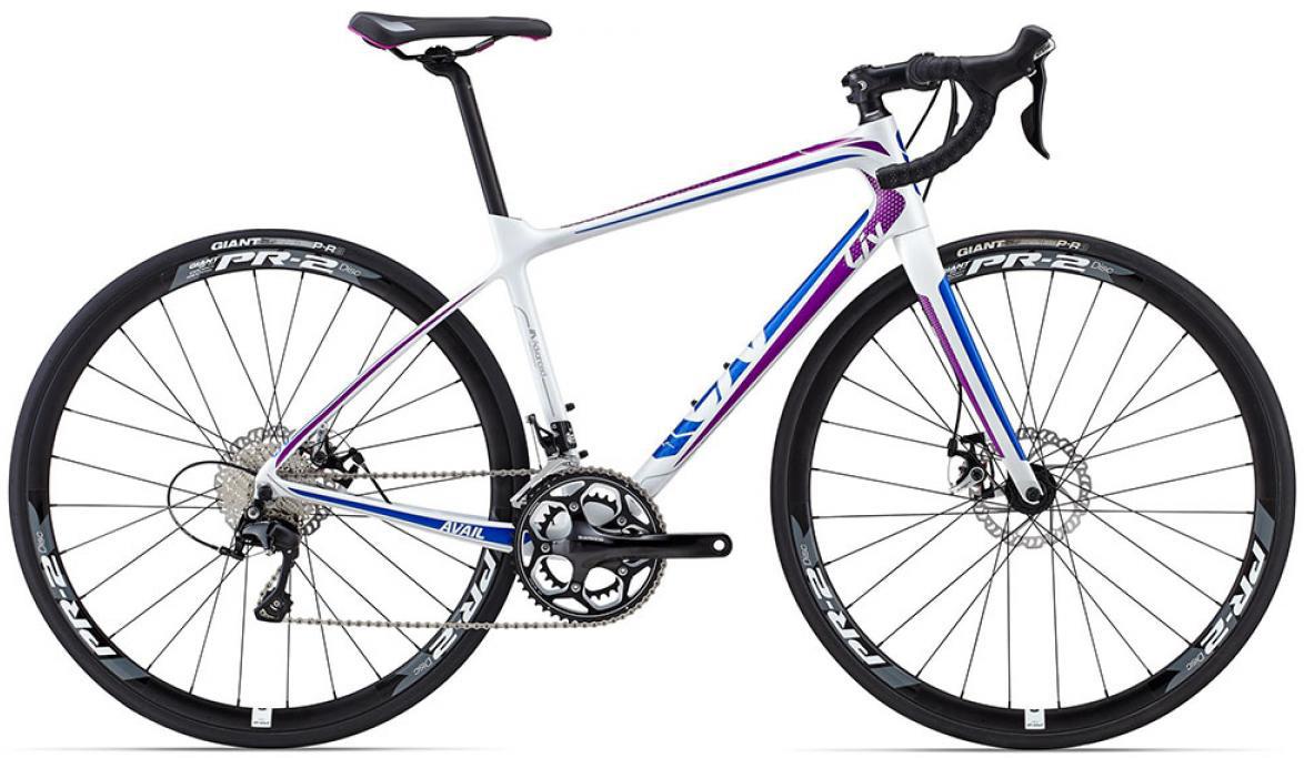 Велосипед женский Giant Avail Advanced 2 2015, цвет: белый, рама 18, колесо 28135049