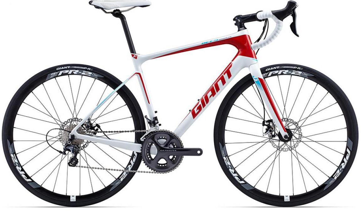 Велосипед шоссейный Giant Defy Advanced 1 2015, цвет: белый, рама 18, колесо 28. 0135076135076
