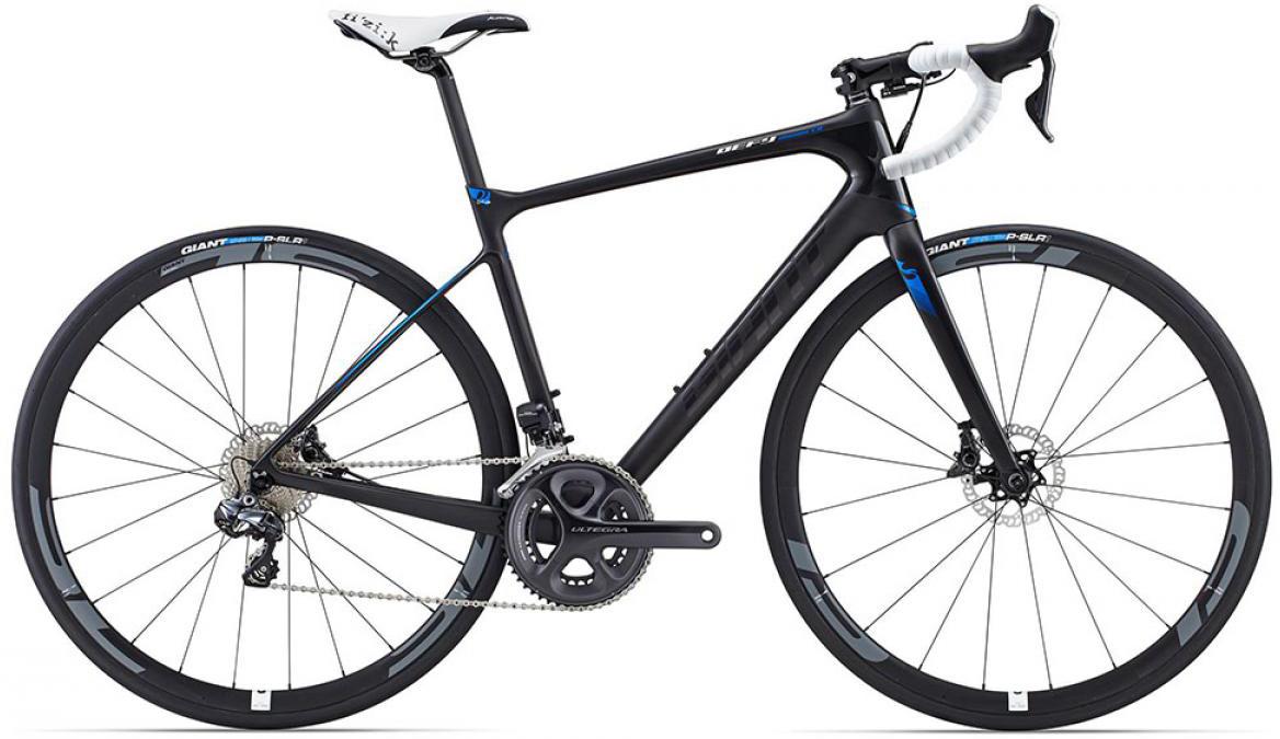 Велосипед шоссейный Giant Defy Advanced Pro 0 2015, цвет: черный, рама 18, колесо 28. 0135090135090