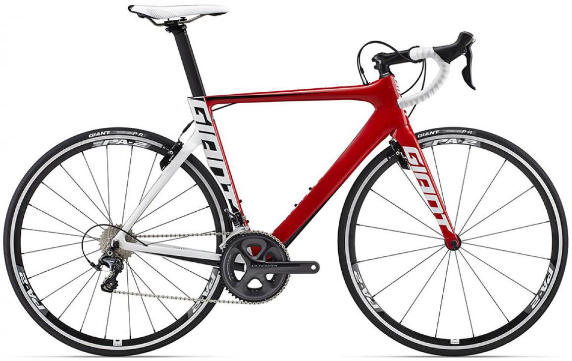 Велосипед шоссейный Giant Propel Advanced 1 2015, цвет: красный, рама 18, колесо 28. 0135136135136