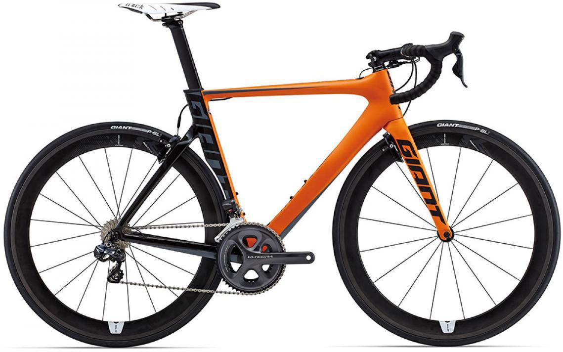 Велосипед шоссейный Giant Propel Advanced Pro 0 2015, цвет: оранжевый, рама 16, колесо 28135151