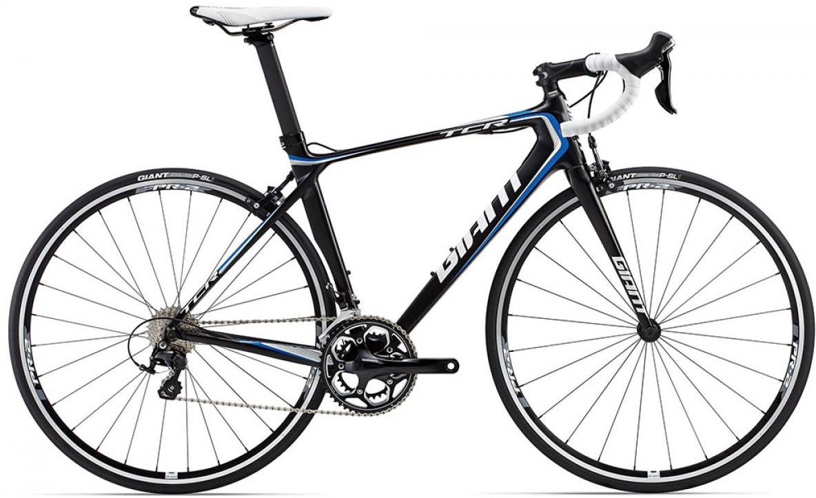 Велосипед шоссейный Giant TCR Advanced 2 2015, цвет: черный, рама 16, колесо 28135195