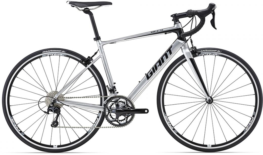 Велосипед шоссейный Giant Defy 1 2016, цвет: серый, рама 18, колесо 28. 0260066260066