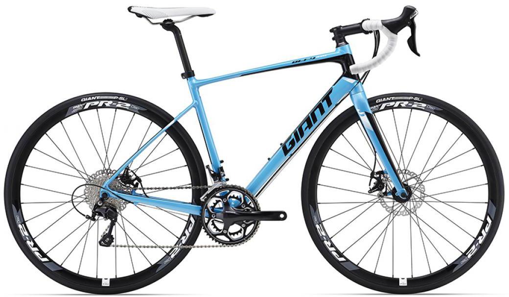 Велосипед шоссейный Giant Defy 1 Disc 2016, цвет: синий, рама 18, колесо 28. 0260089260089