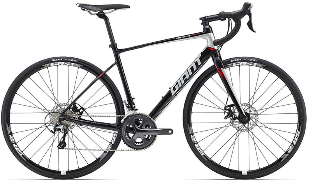 Велосипед шоссейный Giant Defy 2 Disc 2016, цвет: черный, рама 18, колесо 28. 0260096260096