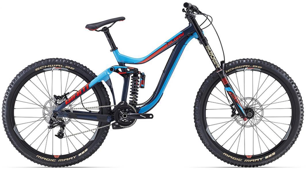 Велосипед горный Giant Glory 1 2016, двухподвесный, цвет: синий, рама 20, колесо, 27,5260145