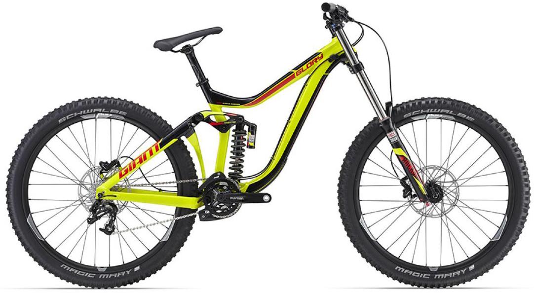 Велосипед горный Giant Glory 2 2016, двухподвесный, цвет: желтый, рама 20, колесо, 27,5260151