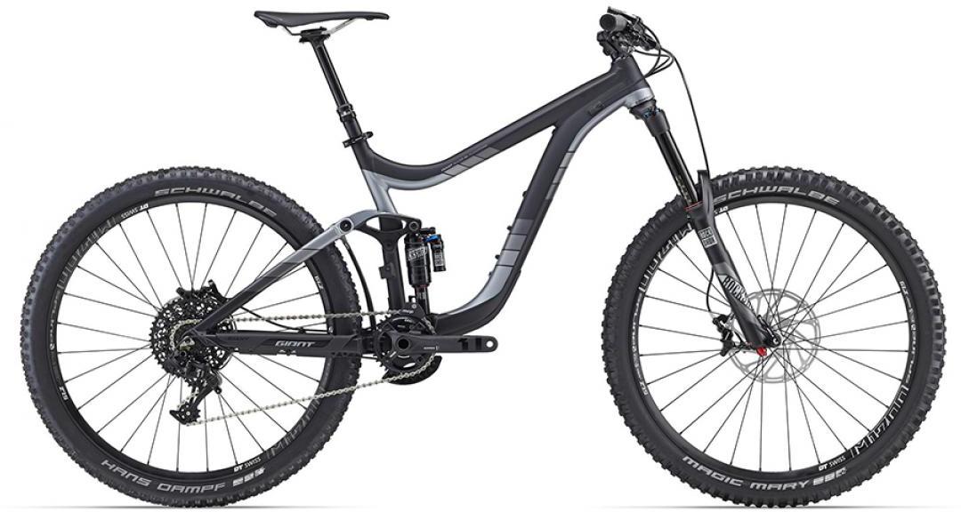 Велосипед горный Giant Reign 1 2016, двухподвесный, цвет: черный, рама 16, колесо, 27,5260155