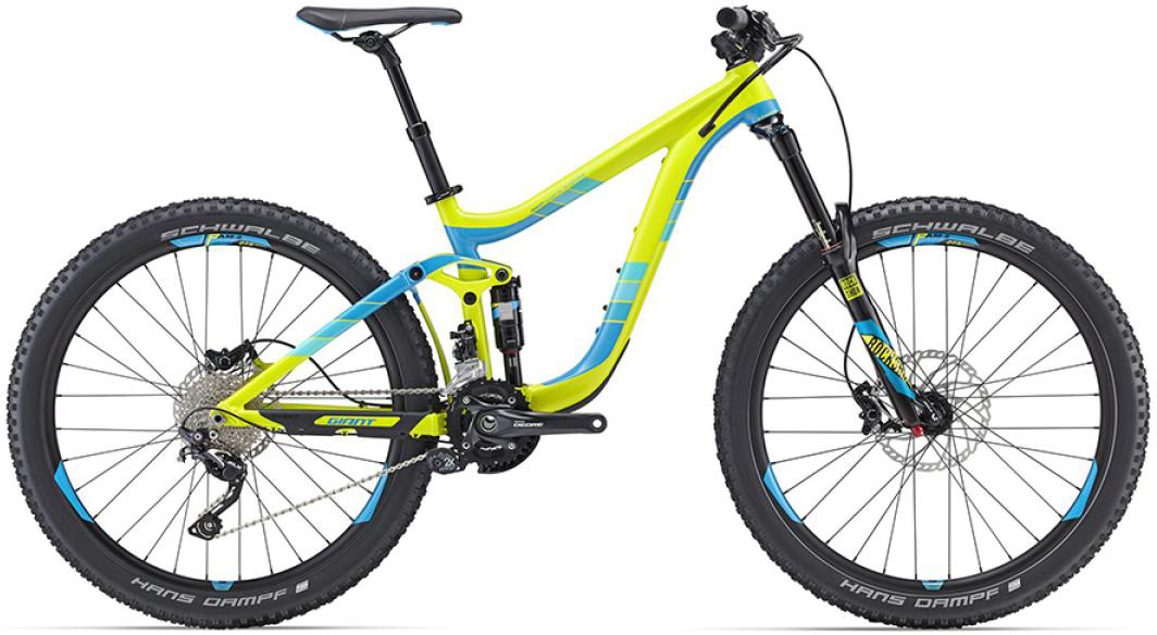 Велосипед горный Giant Reign 2 2016, двухподвесный, цвет: желтый, рама 16, колесо, 27,5260158