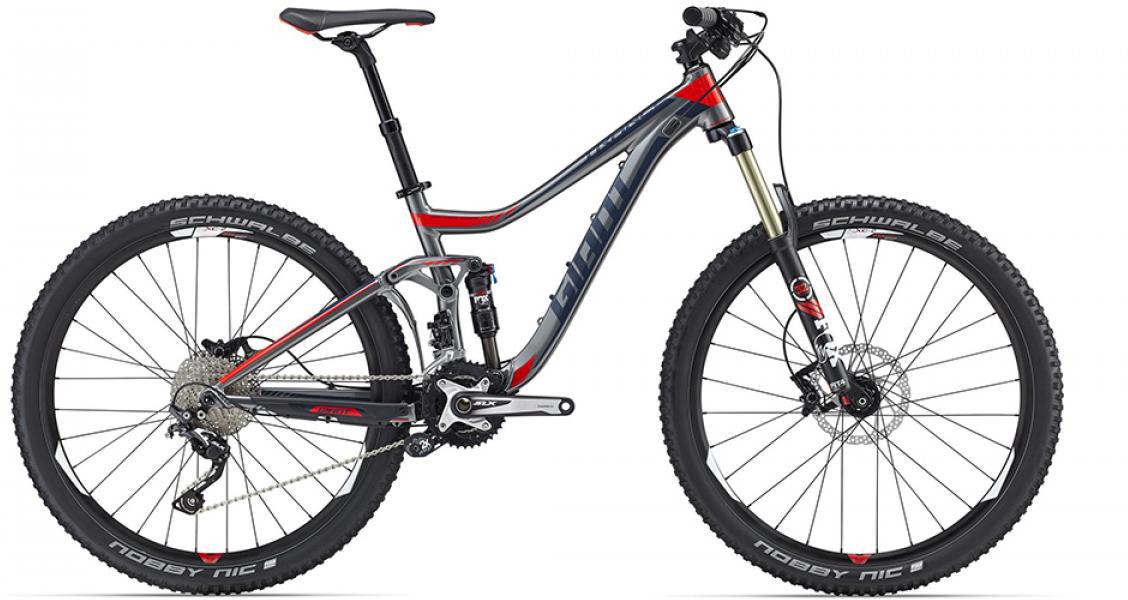 Велосипед горный Giant Trance 2 2016, двухподвесный, цвет: серый, рама 16, колесо, 27,5260163
