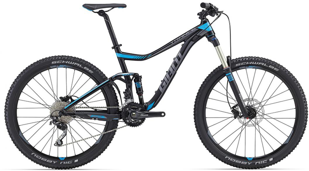 Велосипед горный Giant Trance 3 2016, двухподвесный, цвет: черный, рама 16, колесо, 27,5260168