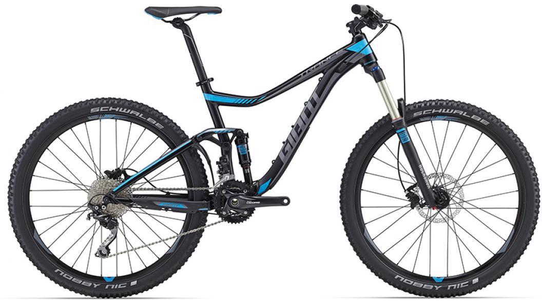 Велосипед горный Giant Trance 3 2016, двухподвесный, цвет: черный, рама 22, колесо, 27,5260172
