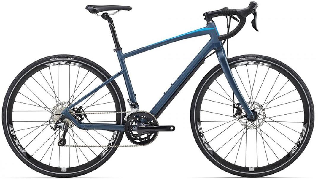 Велосипед шоссейный Giant Revolt 1 2016, цвет: синий, рама 18, колесо 28. 0260184260184