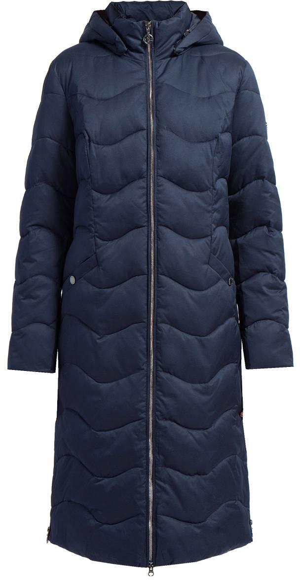 Пальто женское Finn Flare, цвет: темно-синий. W17-11011_101. Размер XXL (52) блузка женская finn flare цвет темно синий s17 12040 101 размер xxl 52