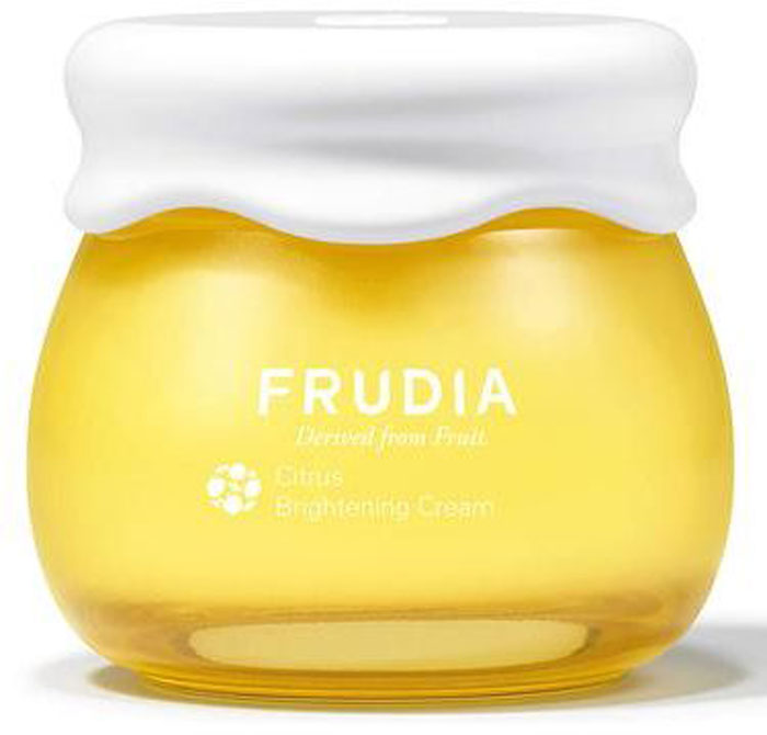 Frudia Citrus Крем с цитрусом, придающий сияние коже, 55 г03014Состоящий на 61% из экстракта цедры мандарина с острова Чеджу, крем-смузи оживляет тусклую кожу, придавая сияние и яркость. Борется с пигментацией, подавляя образование меланина в коже. Гиалуроновая кислота увлажняет, а масло семян манго и другие масла фруктов глубоко питают и смягчают. Крем с натуральным составом подойдет и для чувствительной кожи.