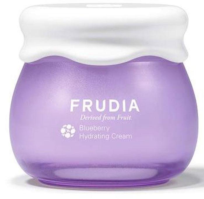 Frudia Blueberry Увлажняющий крем с черникой, 55 г03016Состоящий на 77% из экстракта черники, крем-джем обеспечивает мощное увлажнение на 48 часов. Экстракт листьев черники и бетаин обладают антиоксидантным эффектом, а комплекс масел семян фруктов и растений активно восстанавливает сухую, обезвоженную и усталую кожу. Крем с натуральным составом подойдет и для чувствительной кожи.