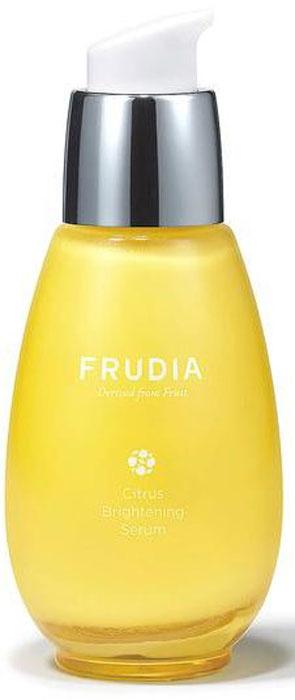 Frudia Citrus Сыворотка с цитрусом, придающая сияние коже, 50 г03018Состоящая на 71% из экстракта цедры мандарина с острова Чеджу, сыворотка оживляет тусклую кожу, придавая сияние и яркость. Ниацинамид выравнивает цвет кожи, а масло семян манго и другие масла фруктов глубоко питают и смягчают. Сыворотка с натуральным составом подойдет и для чувствительной кожи.