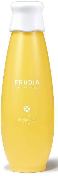 Frudia Citrus Тоник с цитрусом, придающий сияние коже, 195 мл03107Состоящий на 86% из экстракта цедры мандарина с острова Чеджу, тоник нормализует pH баланс и оживляет тусклую кожу, придавая сияние и яркость. Ниацинамид выравнивает цвет кожи, а масло семян манго и другие масла фруктов глубоко питают и смягчают. Тоник с натуральным составом подойдет и для чувствительной кожи.