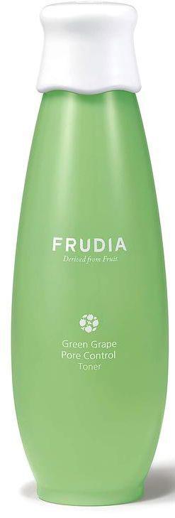 Frudia Green Grape Себорегулирующий тоник с зеленым виноградом, 195 млMGСостоящий на 89% из экстракта зеленого винограда, тоник нормализует pH баланс, обеспечивая уход за жирной и комбинированной кожей. Оказывает поросуживающий эффект, выравнивает поверхность кожи, регулирует себовыделение. Пантенол снимает раздражение, масла косточек зеленого винограда и другие масла фруктов питают и смягчают. Тоник с натуральным составом подойдет и для чувствительной кожи.