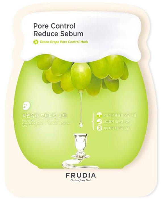 Frudia Green Grape Себорегулирующая маска с зеленым виноградом, 5 шт x 27 мл34750Состоящая на 60% из экстракта зеленого винограда, маска обеспечивает уход за жирной и комбинированной кожей. Полотно маски, созданное по инновационной технологии из растительных волокон, обеспечивает плотное прилегание к коже и эффективно доставляет активные ингридиенты. Оказывает поросуживающий эффект, выравнивает поверхность кожи, регулирует себовыделение. Пантенол снимает раздражение, масла косточек зеленого винограда и другие масла фруктов питают и смягчают кожу.