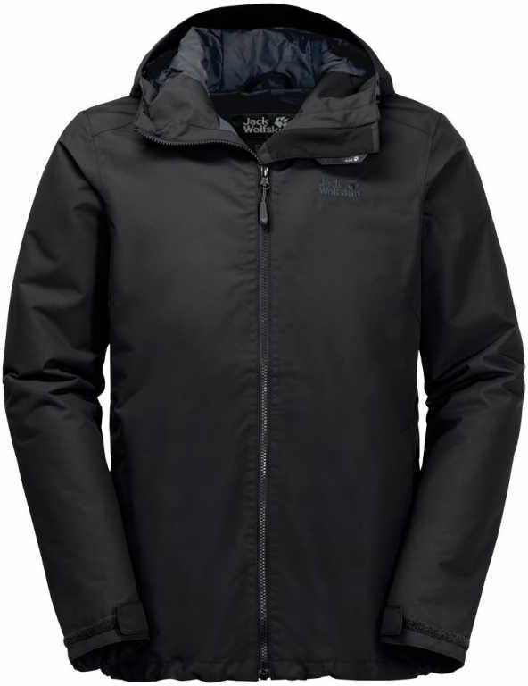 цена Куртка мужская Jack Wolfskin Chilly Morning M, цвет: черный. 1108352-6000. Размер S (42) онлайн в 2017 году