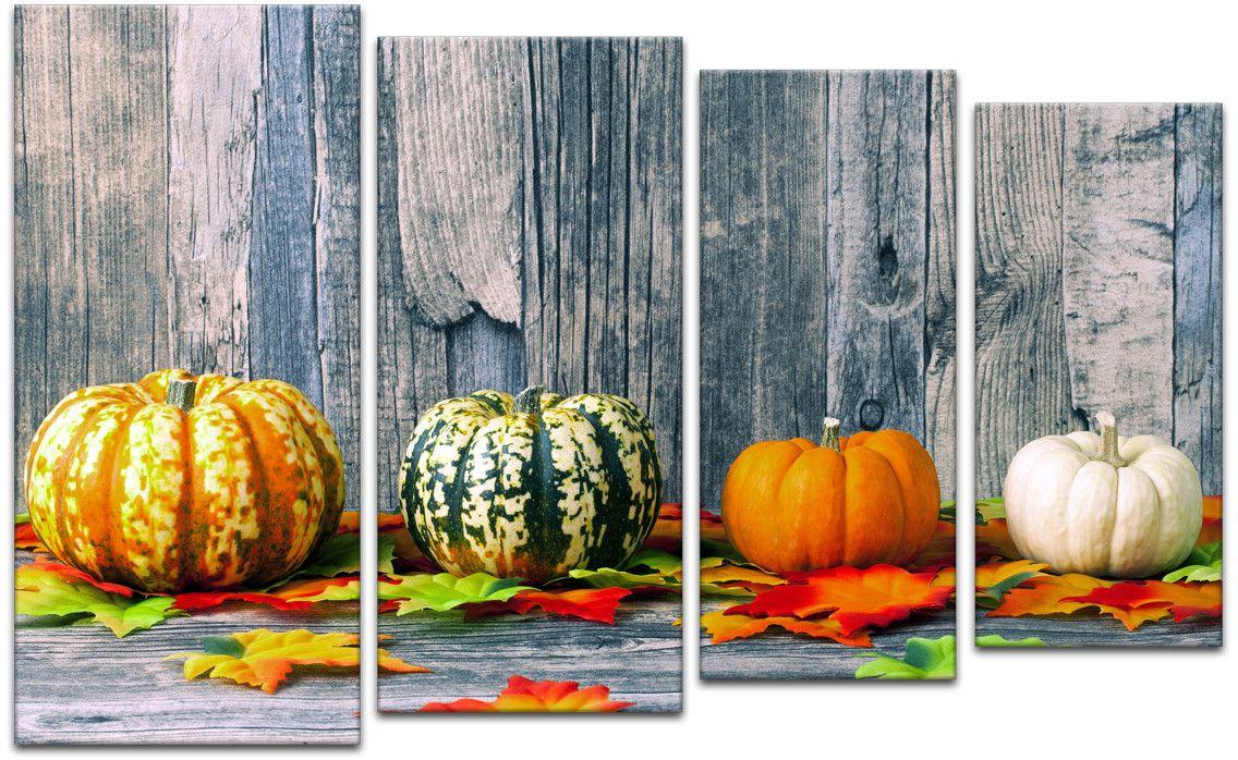 Картина модульная Картиномания День благодарения и Хэллоуин, 120 x 77 смАРТ-М141MВ состав входит комплект креплений и инструкция по креплению на стену.