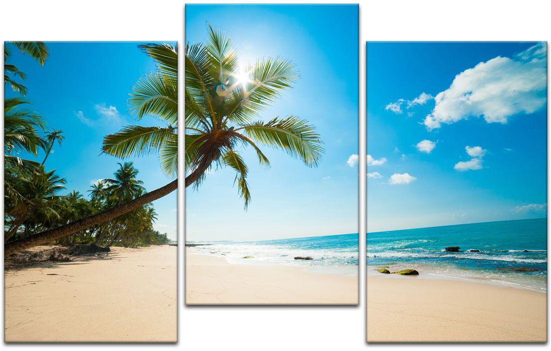 Картина модульная Картиномания Девственный тропический пляж в Шри-Ланке, 120 x 77 смАРТ-М202MМодульная картина Картиномания - это прекрасное решение для декора помещения. Картина состоит из трех модулей. Цифровая печать. Холст натянут на деревянный подрамник галерейной натяжкой и закреплен с обратной стороны. Изделие устойчиво к выцветанию. Размер изображения: 120 x 77 см. В состав входит комплект креплений и инструкция по креплению на стену. Уход: можно протирать сухой мягкой тканью.