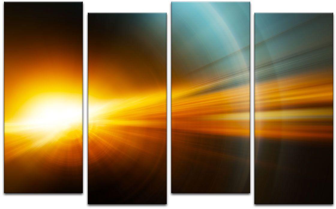 Картина модульная Картиномания Красивые лучи света, 120 x 77 смАРТ-М210MМодульная картина Картиномания - это прекрасное решение для декора помещения. Картина состоит из четырех модулей. Цифровая печать. Холст натянут на деревянный подрамник галерейной натяжкой и закреплен с обратной стороны. Изделие устойчиво к выцветанию. Размер изображения: 120 x 77 см. В состав входит комплект креплений и инструкция по креплению на стену. Уход: можно протирать сухой мягкой тканью.