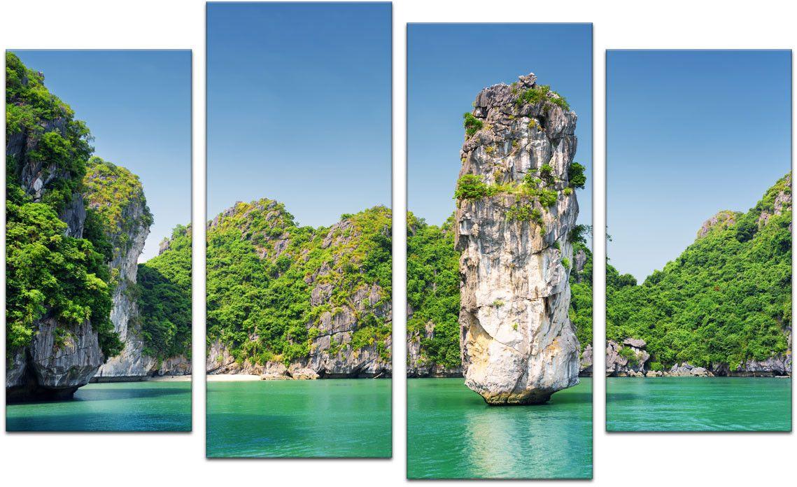Картина модульная Картиномания Пейзаж Вьетнама, 120 x 77 смАРТ-М402MВ состав входит комплект креплений и инструкция по креплению на стену.