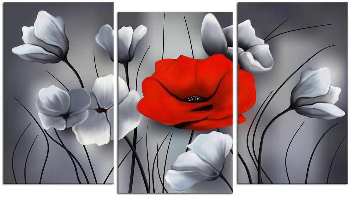 Картина модульная Картиномания Красный бриллиант, 120 x 77 смАРТ-М708MМодульная картина Картиномания - это прекрасное решение для декора помещения. Картинасостоит из трех модулей. Цифровая печать. Холст натянут на деревянный подрамникгалерейной натяжкой и закреплен с обратной стороны. Изделие устойчиво к выцветанию.Размер изображения: 120 x 77 см. В состав входит комплект креплений и инструкция покреплению на стену. Уход: можно протирать сухой мягкой тканью.