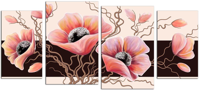 Картина модульная Картиномания Маки, 120 x 55 см